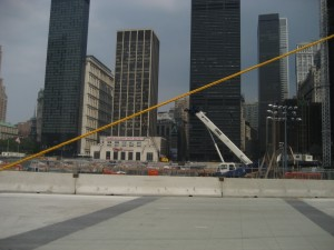 A passing view of the Ground Zero site.
