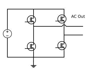 Simple H-bridge inverter