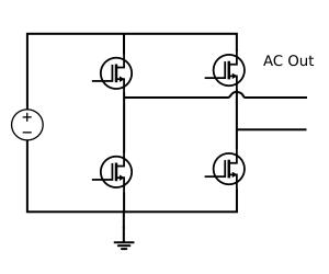 Simple H-bridge inverter