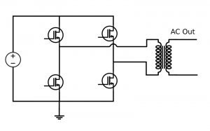 Inverter with a transformer