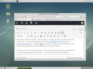 Midori on a GNU/Hurd desktop.